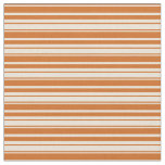 [ Thumbnail: Chocolate and Bisque Striped Pattern Fabric ]