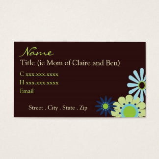 Chocolate and Blue Hip Mommy Card
