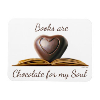 Chocolate and Book Lover's Magnet
