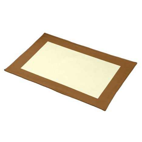 Chocolate and Cream-Colored Placemat