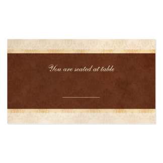 Chocolate and Cream Wedding Reception Place Card Double-Sided Standard Business Cards (Pack Of 100)