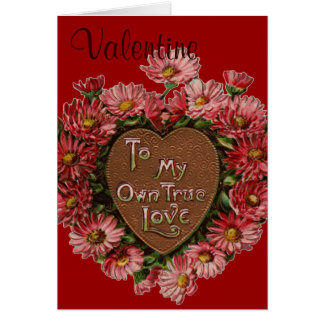 Chocolate and flowers valentine card