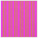 [ Thumbnail: Chocolate and Fuchsia Stripes/Lines Pattern Fabric ]
