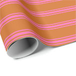 [ Thumbnail: Chocolate and Hot Pink Colored Pattern Wrapping Paper ]