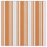 [ Thumbnail: Chocolate and Lavender Colored Stripes Fabric ]