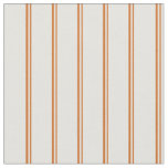 [ Thumbnail: Chocolate and Light Cyan Colored Stripes Fabric ]