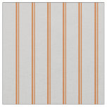 [ Thumbnail: Chocolate and Light Gray Colored Stripes Pattern Fabric ]