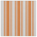 [ Thumbnail: Chocolate and Light Gray Lines/Stripes Pattern Fabric ]