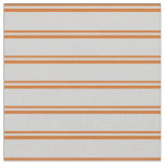 [ Thumbnail: Chocolate and Light Gray Pattern of Stripes Fabric ]