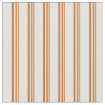 [ Thumbnail: Chocolate and Light Yellow Colored Stripes Fabric ]