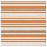[ Thumbnail: Chocolate and Mint Cream Colored Lines Fabric ]
