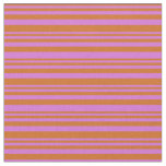 [ Thumbnail: Chocolate and Orchid Colored Pattern Fabric ]