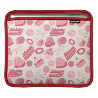 Chocolate and pastries pattern 2 iPad sleeve