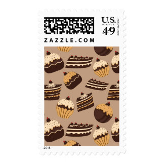 Chocolate and pastries pattern 3 stamps