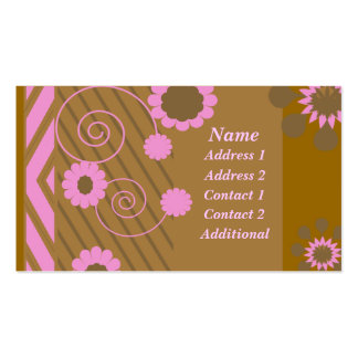 Chocolate and Pink Business Card