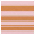 [ Thumbnail: Chocolate and Pink Colored Lines Fabric ]