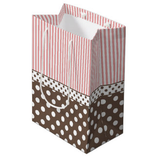 Chocolate and Pink Medium Gift Bag
