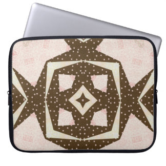 Chocolate and Pink Quilt Laptop Sleeve