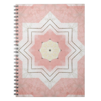 Chocolate and Pink Quilt Spiral Notebook