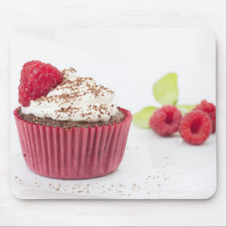 Chocolate and Raspberry Cupcake Mouse Pad