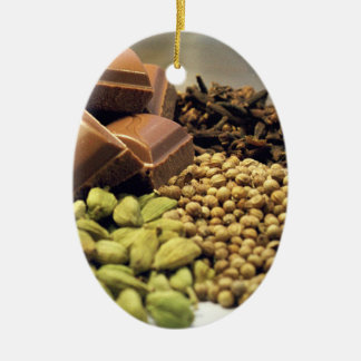 Chocolate and spice christmas ornament