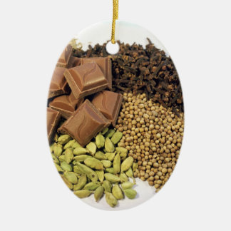 Chocolate and spice christmas tree ornaments