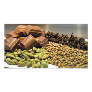 Chocolate and spice photo print