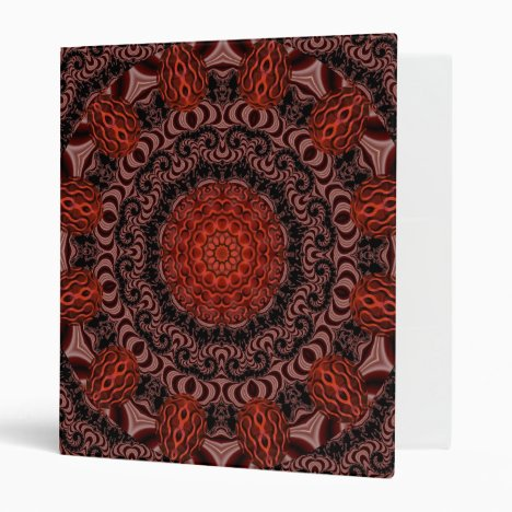 Chocolate and Strawberries, Abstract 3 Ring Binder