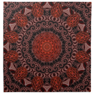 Chocolate and Strawberries, Abstract Cloth Napkin