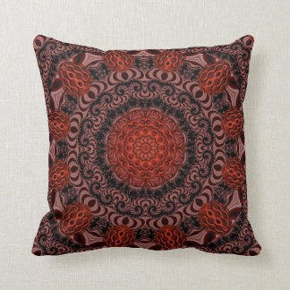 Chocolate and Strawberries, Abstract Throw Pillows