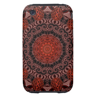 Chocolate and Strawberries, Abstract Tough iPhone 3 Case