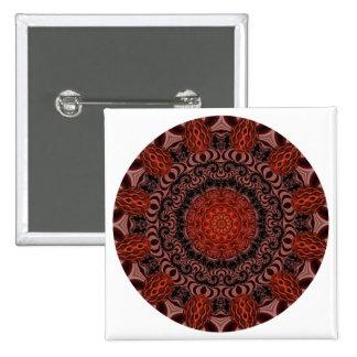 Chocolate and Strawberries Mandala Abstract Pin