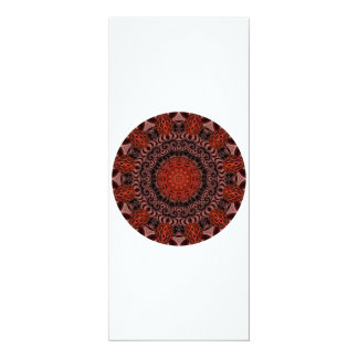 Chocolate and Strawberries Mandala, Abstract Card