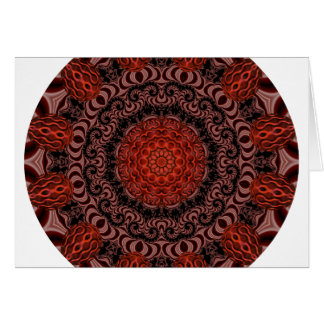 Chocolate and Strawberries Mandala, Abstract Greeting Cards