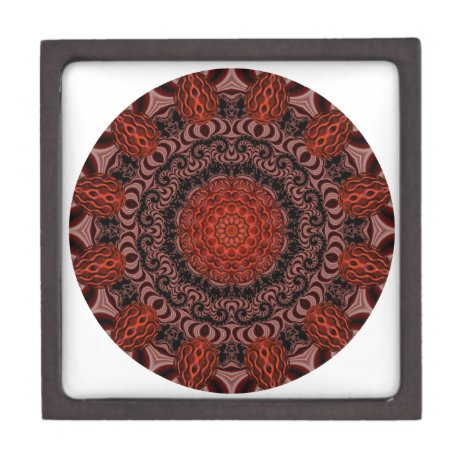 Chocolate and Strawberries Mandala, Abstract Gift Box