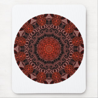 Chocolate and Strawberries Mandala, Abstract Mouse Pad