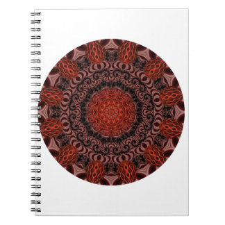 Chocolate and Strawberries Mandala, Abstract Notebook