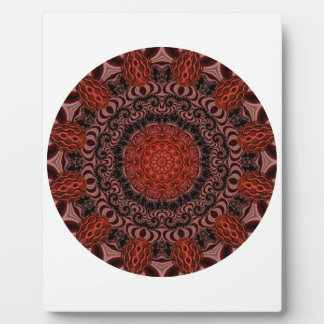 Chocolate and Strawberries Mandala, Abstract Plaque