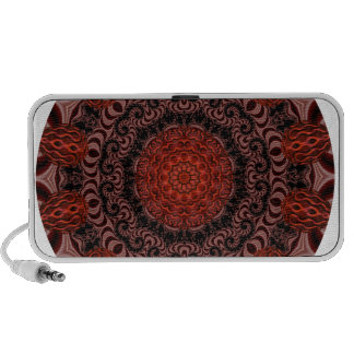 Chocolate and Strawberries Mandala, Abstract Mp3 Speakers