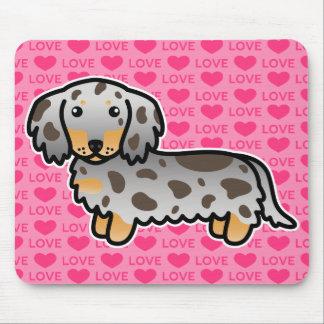 Chocolate And Tan Dapple Long Coat Dachshund Love Mouse Pad