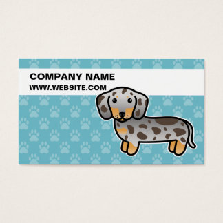 Chocolate And Tan Dapple Smooth Coat Dachshund Business Card