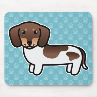 Chocolate And Tan Piebald Smooth Coat Dachshund Mousepads