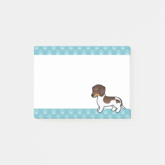 Chocolate And Tan Piebald Smooth Coat Dachshund Post-it Notes