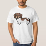 Chocolate And Tan Piebald Smooth Coat Dachshund T-Shirt