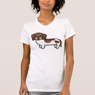 Chocolate And Tan Piebald Smooth Coat Dachshund T Shirts