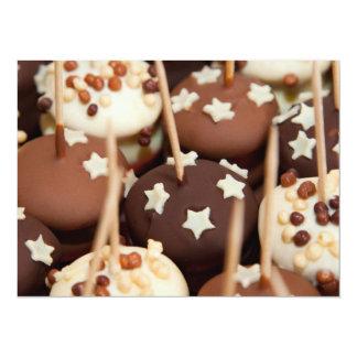 Chocolate and White Cake Balls Card