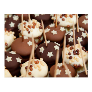 Chocolate and White Cake Balls Postcard
