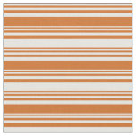 [ Thumbnail: Chocolate and White Lines Fabric ]