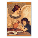 Chocolate Angel Vintage French Candy Poster Card