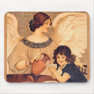 Chocolate Angel Vintage French Candy Poster Mouse Pad